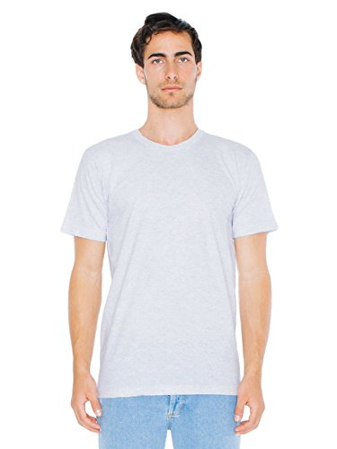 American Apparel  Unisex Fine Jersey Short Sleeve T-Shirt, Ash Grey, X-Small
