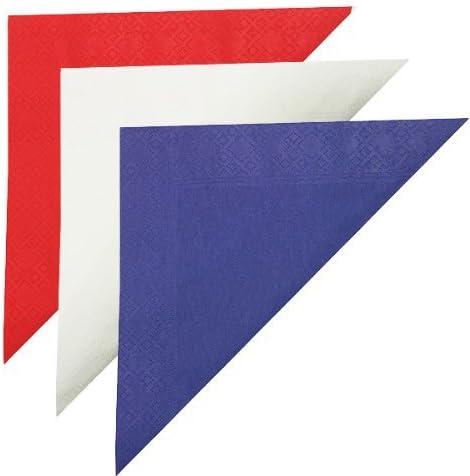 Thali Outlet® – Juego de servilletas de 33 cm para fiesta de jardín británico – 125 x rojo, 125 x azul, 125 x blanco – bandera británica color (rojo, blanco y azul): Amazon.es: Hogar