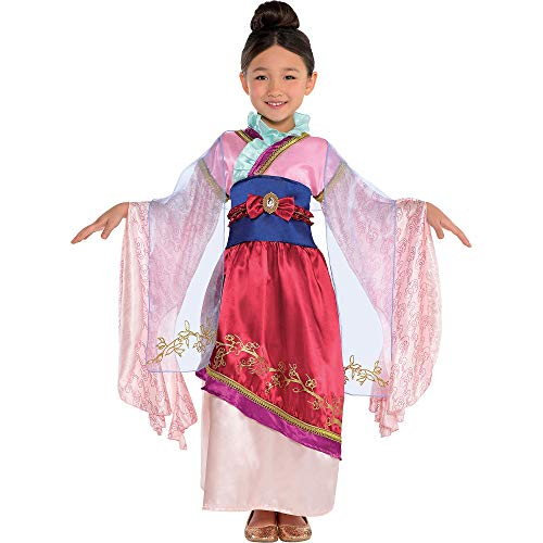 Suit Yourself Mulan Costume Classic for Girls, Size Medium, Includes a Detailed Dress, an Attached Obi Belt, and a Sash]()