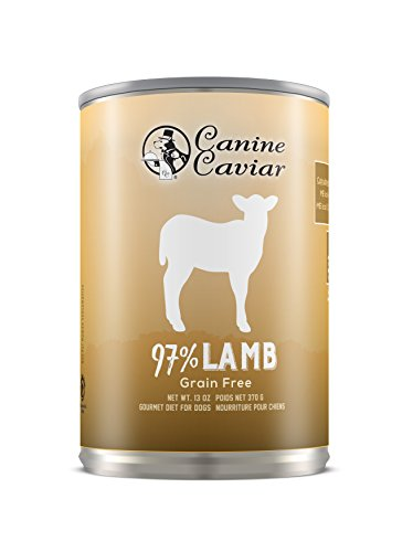 Canine Caviar Synthetic Free Lamb with no grains, 12.7 oz pack of 12 cans
