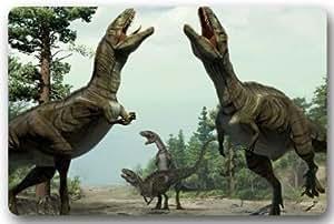 """Dinosaur Doormats Entryways Thick Indoor/Outdoor Rectangle Floor Mat Decor Door mats - 23.6""""(L) x 15.7""""(W) Solid Rubber Doormat Office Home"""