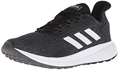adidas Women's Duramo 9 Running Shoe, Black/White/Grey, 5 M US