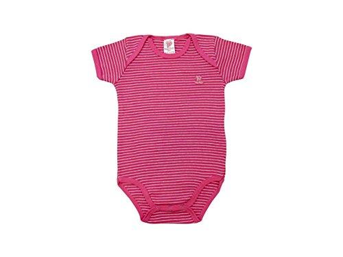 Pulla Bulla Baby Bodysuit Infant Unisex Striped Size 12-18 Months - - Pink Striped Onesie