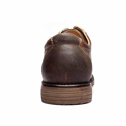 Fulinken Taille 8 Nous Hommes Marron En Cuir Oxford Chaussures Lacent Des Chaussures Causales