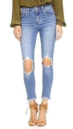 Levi's Women's 721 High Rise Distressed Skinny Jeans, Rugged Indigo, 24