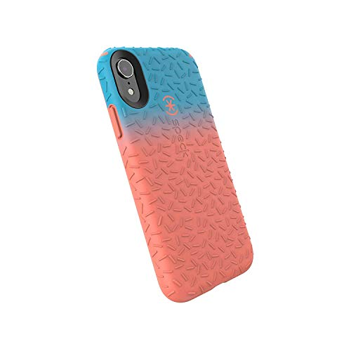 Speck Products CandyShell Fit iPhone XR Case, Navigate Teal Ombre Apricot Peach/Apricot Peach - Fit Phone Case