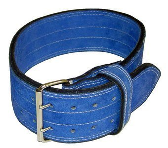 "Ader Leather Power Weight Lifting Belt 4"" Blue (Medium)"
