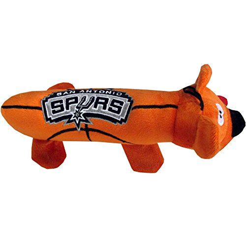 NBA SAN Antonio Spurs Soft Plush Tube Toy for Dogs & Cats with Two Inner SQUEAKERS