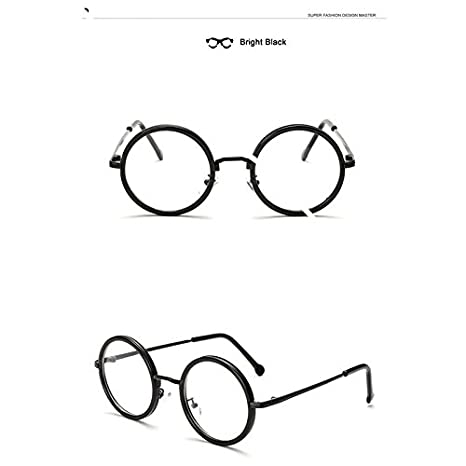 08b97d3dba92 BuyWorld JIANGTUN Hot Women Men Big Round Glasses Frames Purely Handmade  Vintage Optical Eye Frame Plain Glass Fashion Oculos  Amazon.in  Home    Kitchen