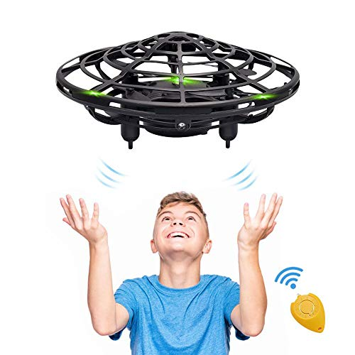 Hand Operated Kids Drone, CPSYUB Hands Free Mini Drone Helicopter for Kids, Flying Drone Kids Toys for 4, 5, 6, 7, 8, 9, 10, 11, 12 Year Old Boys or Girls Gifts (Black) (Gift Basket For 10 Year Old Boy)