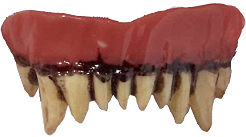[Adults Werewolf Wolf Monster Teeth Fangs Costume Accessory] (Werewolf Accessories)