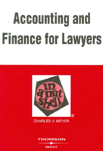 Accounting And Finance for Lawyers in a Nutshell (Nutshell Series) -
