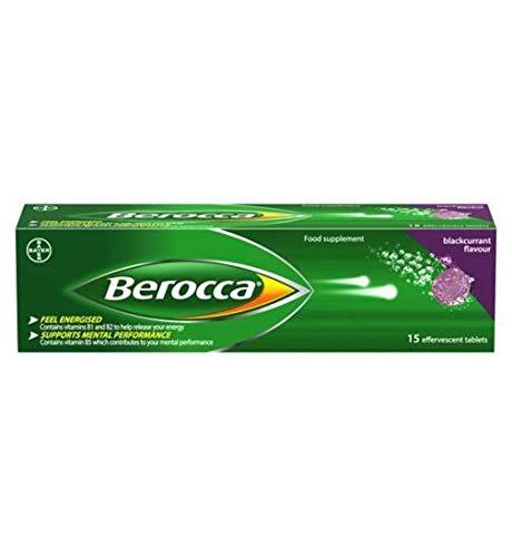 Berocca Blackcurrant 15 effervescent Tablets - 4 Pack ()