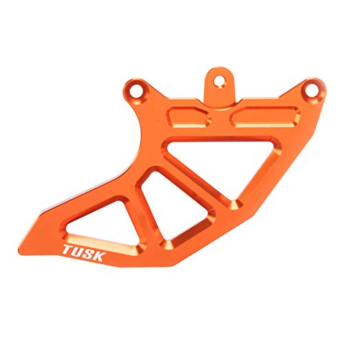 Rear Caliper Guard (Tusk Rear Brake Caliper Support w/Brake Disc Guard Replacement Fin Orange - Fits: KTM 300 XC-W i (Fuel Injected) 2019)