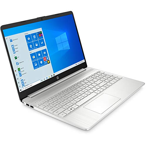 """2021 HP 15 15.6"""" FHD Touchscreen Business Laptop Computer_ Intel Quard-Core i7 1065G7 up to 3.9GHz_ 12GB DDR4 RAM_ 256GB PCIe SSD_ Type-C_ Remote Work_ Silver_ Windows 10 Pro_ BROAGE 64GB Flash Stylus"""