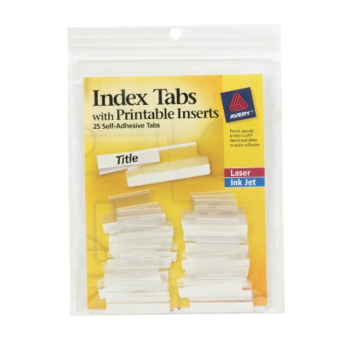 new Avery Index Tabs, with Printable Inserts, 1.5-Inch, 25 Tabs, 1 Set (16230)