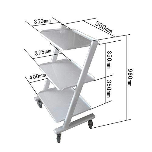 IXAER Medical Mobile Utility Cart Trolley Steel Frame Doctor Dentist Roller Spa Salon Equipment All Purpose