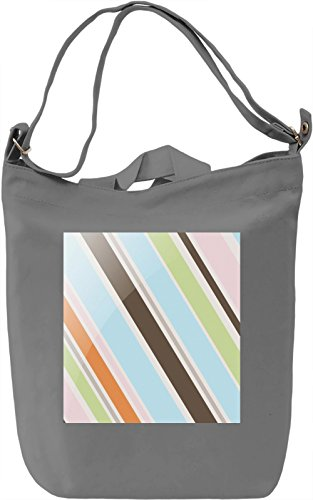 Simple Lines Print Borsa Giornaliera Canvas Canvas Day Bag| 100% Premium Cotton Canvas| DTG Printing|