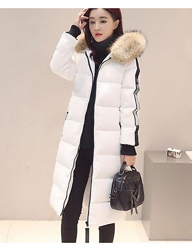 Others out Print Polypropylene Women's amp;SHANGYI TT Striped Acrylic Going Simple Coat Long Solid Down Sleeves Active Cotton 10xqO