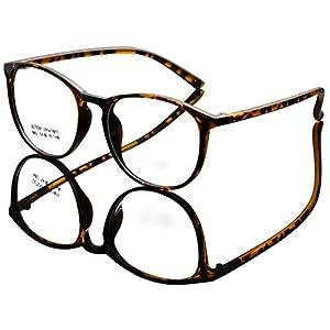 DEDING Retro Round Clear Lens Eyeglasses (brown tortoise , clear )