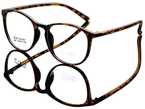 DEDING Retro Round Clear Lens Eyeglasses (brown tortoise , clear - Prescription Eyeglasses Non