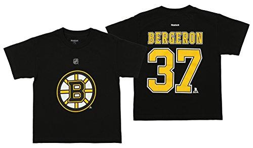 NHL Youth's Boston Bruins Patrice Bergeron Short Sleeve Player Tee, Black Medium (10-12) - Nhl Youth T-shirts