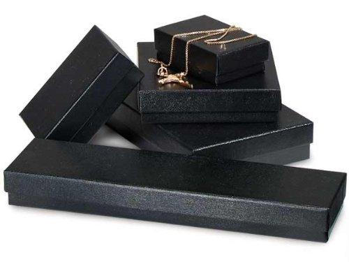 BLACK Embossed Jewelry Boxes5 SIZE ASSORTMENT (1 unit, 72 pack per unit.)