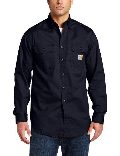 Flame Twill Shirt Resistant - Carhartt Men's Big & Tall Flame Resistant Classic Twill Shirt,Dark Navy,XXX-Large Tall