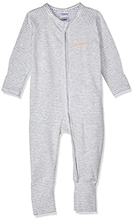 Bonds Baby Zippy - Cotton Blend Zip Wondersuit, Grey Stripe, 0 (6-12 Months)