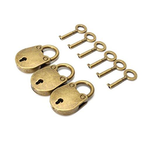 Zehui 3pcs / Set Cerradura con Estilo Retro, Cerradura Especial, Regalo Exquisito, Antique Zinc aleación Oso Bolsa Forma...