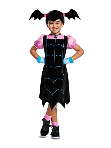 Girl Scary Costumes - Disguise Vampirine Classic Child Costume, Black,