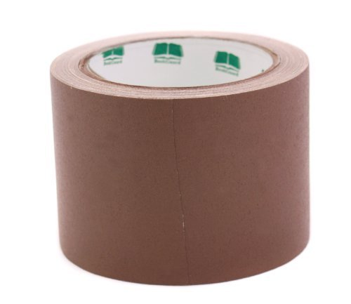 3'' Brown Colored Premium-Cloth Book Binding Repair Tape | 15 Yard Roll (BookGuard Brand) by Chromalabel.com (Image #1)
