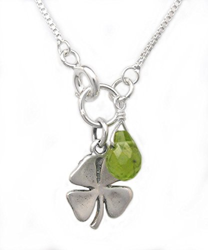 Sterling Silver Four Leaf Clover and Peridot