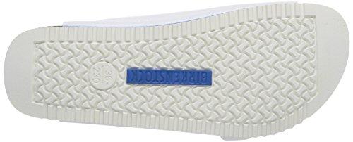 BirkenstockArizona Birko-Flor - pantuflas Unisex adulto Blanco - Blanc (white Ls White/blue)