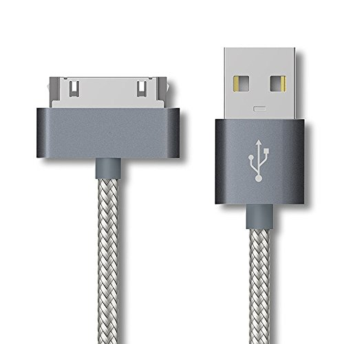 Gen 2 Ipod (Enligten 2-Pack 3FT 6FT EXTRA LONG 30 Pin to USB SYNC and Charge Cable Cord for Apple iPhone 4/4s, iPod 1-6 Gen, iPod 1-4 Gen, iPad 1-3 Gen (Gray))