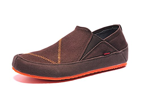 senximaoyi Ventilation casual shoes canvas shoes lazy soft bottom shoes doug driving,Brown,8