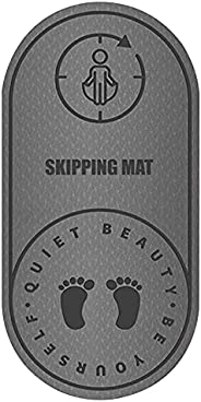 Sebulo Jump Rope Mat, Knees Protection Impact Absorption Durable Jumping Rope Mat with Non-Slip Texture, Porta