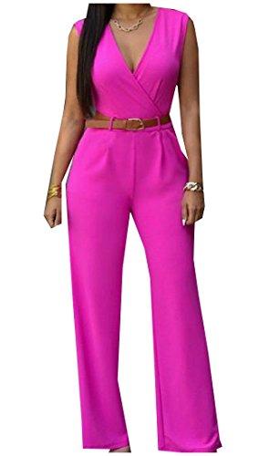 Abetteric Womens Collar Waist Pants