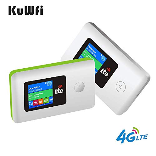 Portable Mobile WiFi Router, 100Mbps High Speed Mobile 4G LTE CPE Unlocks Wireless Travel Router with SIM Card Slot…
