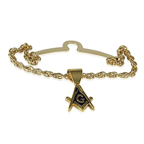 Cuff-Daddy Freemason Masonic Tie Chain with Box for Masons with Presentation - Designer Cufflinks Chain