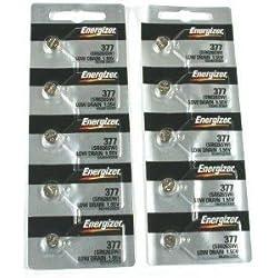 Energizer 377/376 Silver Oxide 10 Batteries