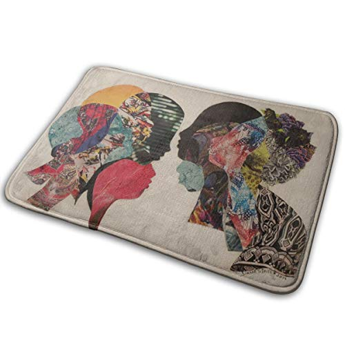 Jingclor Welcome Doormat, Entrance Floor Mat Rug Indoor Outdoor Front Door Mat with Non-Slip Rubber Backing, Printing Doormats with Colorful Brain Sisters Talking, 15.8''WX23.6''L]()
