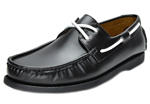 Fashion Loafers Two Eye Contrasting Leather