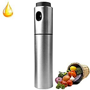 Upgraded Version Olive Oil and Balsamic Vinegar Spray Stainless Oil Steel 100ml for Cooking Salad,Bread Baking,Barbecue Injector