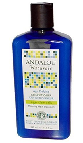 Andalou Naturals Age Defying Treatment Conditioner Thinning Hair Treatment with Argan Stem Cells, 11.5 Ounce (Defying Treatment Conditioner)