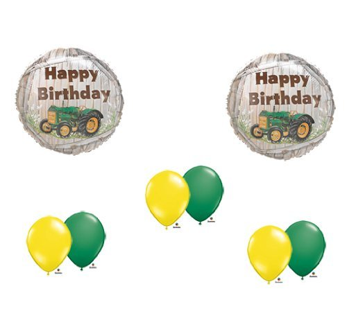 John Deere-LIKE Farm tractor Birthday Party Balloons Decorations Supplies
