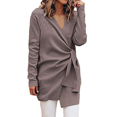 ICE Cream Women's Casual Draped Open Front Cardigan Coat Long Sleeve Jacket with Belt