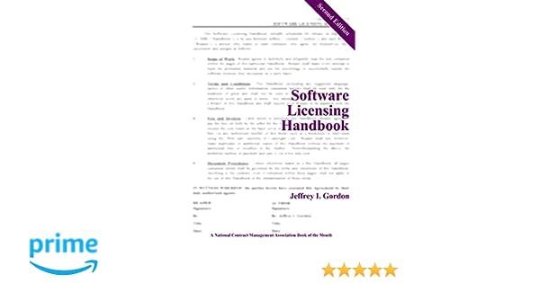 Software Licensing Handbook Second Edition Jeffrey I Gordon