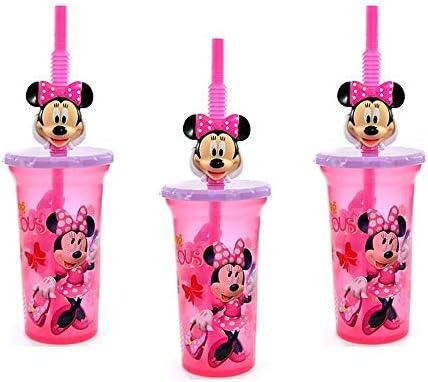 Zak Designs Taza de vaso con tapa y pajita de Disney minnie mouse ...