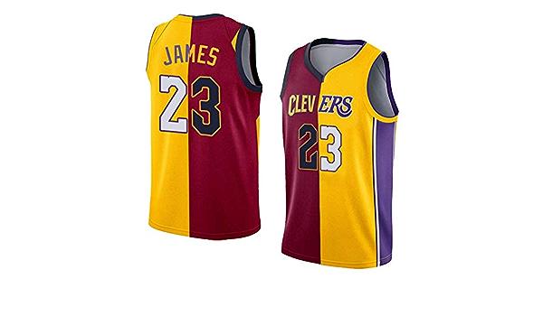 Camiseta de Baloncesto de los Hombres de Cleveland Cavaliers # 23 Lebron James Transpirable de Secado r/ápido sin Mangas del Chaleco Top Sport,Azul,S 170cm//50~65kg